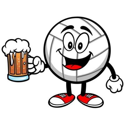 Adesivo Mascote Vôlei com cerveja
