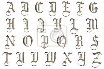 Adesivo medieval gothic alphabet collection