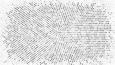 Adesivo Meio-tom pontilhada de fundo. Padrão de vetor de efeito de meio-tom. Pontos do círculo isolados no fundo branco.