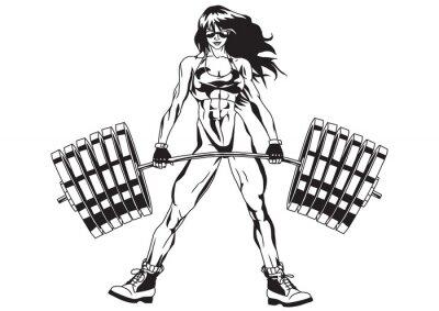 Adesivo Menina atlética