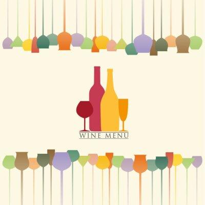 Adesivo Menu de vinhos