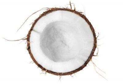 Adesivo Metade do coco vista de cima