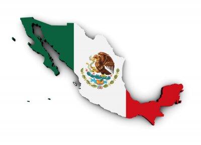 Adesivo Mexico Flag Map