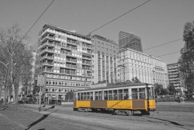 Adesivo Milano e bonde em lombardia italia milao e trem em milao italia