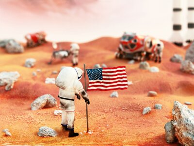 Adesivo Missão Marte tripulada