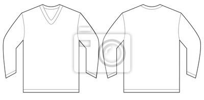 d6c18fc21a397 Modelo branco do projeto da camisa do v-pescoço da luva laptop ...