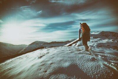 Adesivo Montanha Andando
