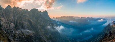 Adesivo Morskie Oko - pôr do sol, vista de Rysy