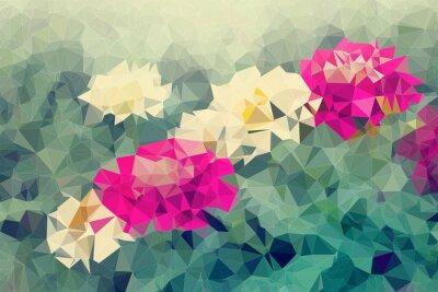 Adesivo Mosaico, baixo, polígono, fundo, flores, fundo, ilustração