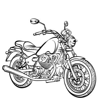 Adesivo Motocicleta clássico