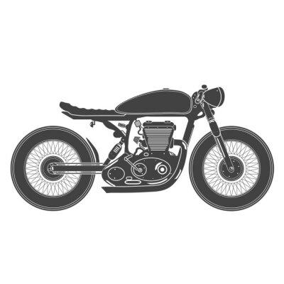 Adesivo Motocicleta do vintage. Café racer tema