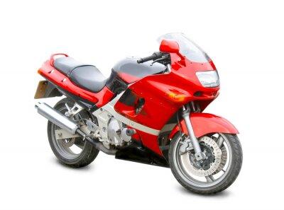 Adesivo motocicleta isolado