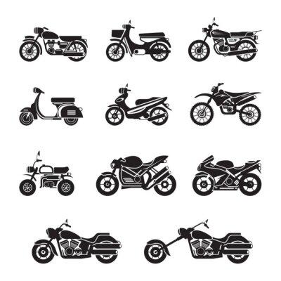 Adesivo Motociclistas, ciclistas, preto e branco, Silhueta
