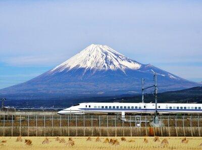 Adesivo Mt. Fuji e do trem-bala