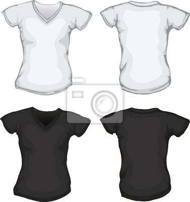 5f46090fd8045 Mulher branca molde da camisa de gola v preta laptop adesivos ...