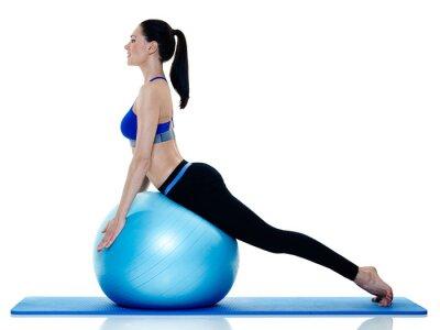 Adesivo Mulher fitness pilates exercícios isolado