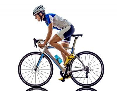 Adesivo Mulher triathlon ironman atleta ciclista ciclismo