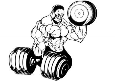 Adesivo muscular bodybuilder workout