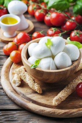 Adesivo Mussarela italiana com tomate e manjericão