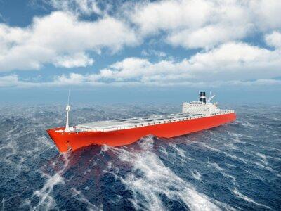 Adesivo Navio de carga no oceano tormentoso