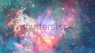 Adesivo Nebulosa no espaço. Fundo cósmico. Elementos desta imagem fornecida pela NASA.