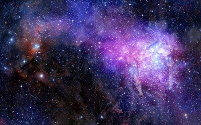 Adesivo nebulosa nuvem de gás no espaço profundo