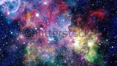 Adesivo Nebulosas coloridas, galáxias e estrelas no espaço profundo. Elementos desta imagem fornecidos pela NASA.