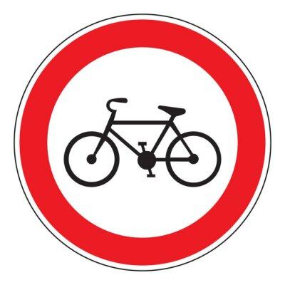 Adesivo Nenhuma bicicleta permitida sinal