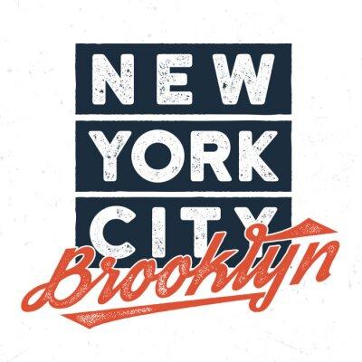 Adesivo New York City Brooklyn - Design do T para impressão