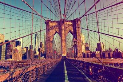 Adesivo New York City da ponte de Brooklyn