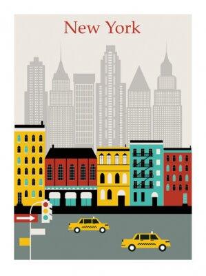 Adesivo New York city. Vector