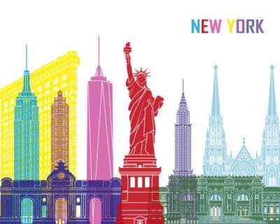 Adesivo New York pop skyline