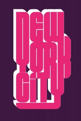 Adesivo New York Sport usar emblema de tipografia, gráficos de carimbo de t-shirt