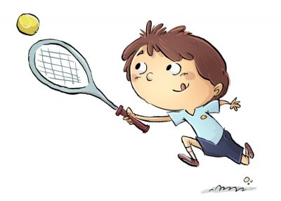 Adesivo Niño jugando a tenis