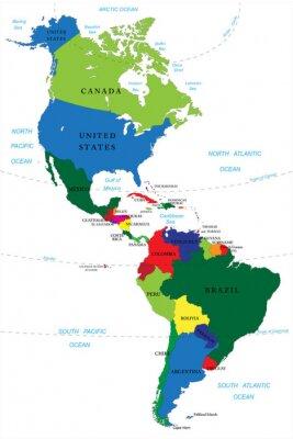Adesivo North and South America map