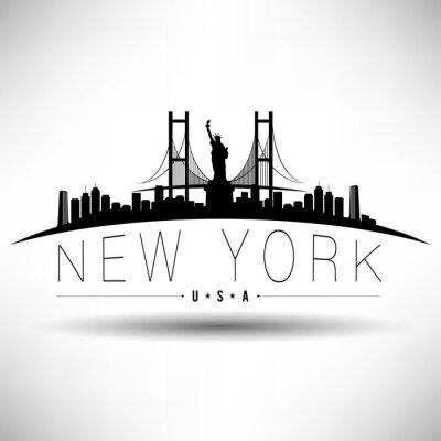 Adesivo Nova York Tipografia Projeto