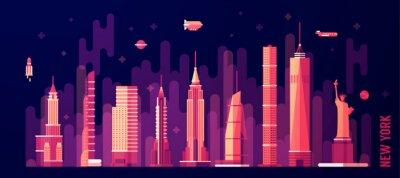 Adesivo Novo, York, cidade, Skyline, vetorial, liso, estilo