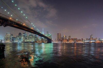 Adesivo Novo, york, noturna, vista, brooklyn