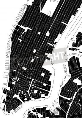 Adesivo Novo, York, pretas, branca, cidade, plano, rua, textura