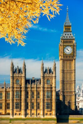 Adesivo O Big Ben ea casa do parlamento, Londres, Reino Unido.