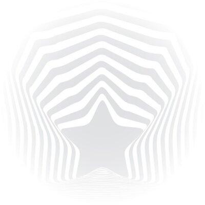 Adesivo O cinza da estrela listra o efeito da arte visual da ilusão óptica.