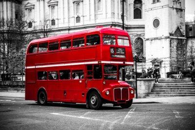Adesivo O icônico ônibus de dois andares de Londres.