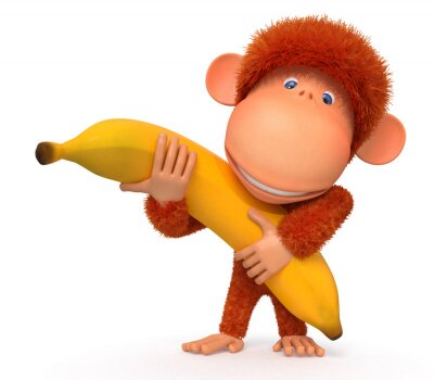 Adesivo O macaco com banana
