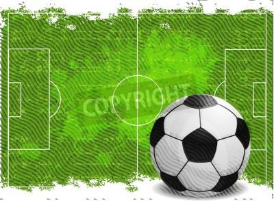 Adesivo O projeto do fundo de futebol