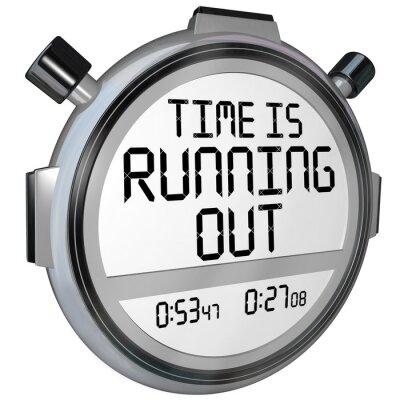 Adesivo O tempo está acabando cronômetro relógio temporizador