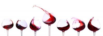 Adesivo O vinho vermelho isolado no branco