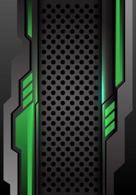 Adesivo Obscuridade cinzenta verde abstrata futurista na ilustração futurista moderna do vetor do fundo do projeto da malha do círculo.