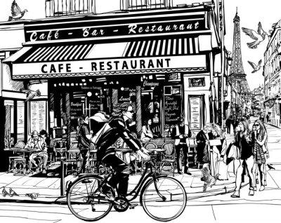Adesivo Old café em Paris