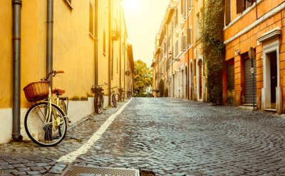 Adesivo Old street in Rome, Italy