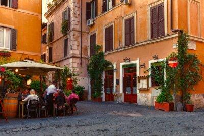 Adesivo Old street in Trastevere in Rome, Italy